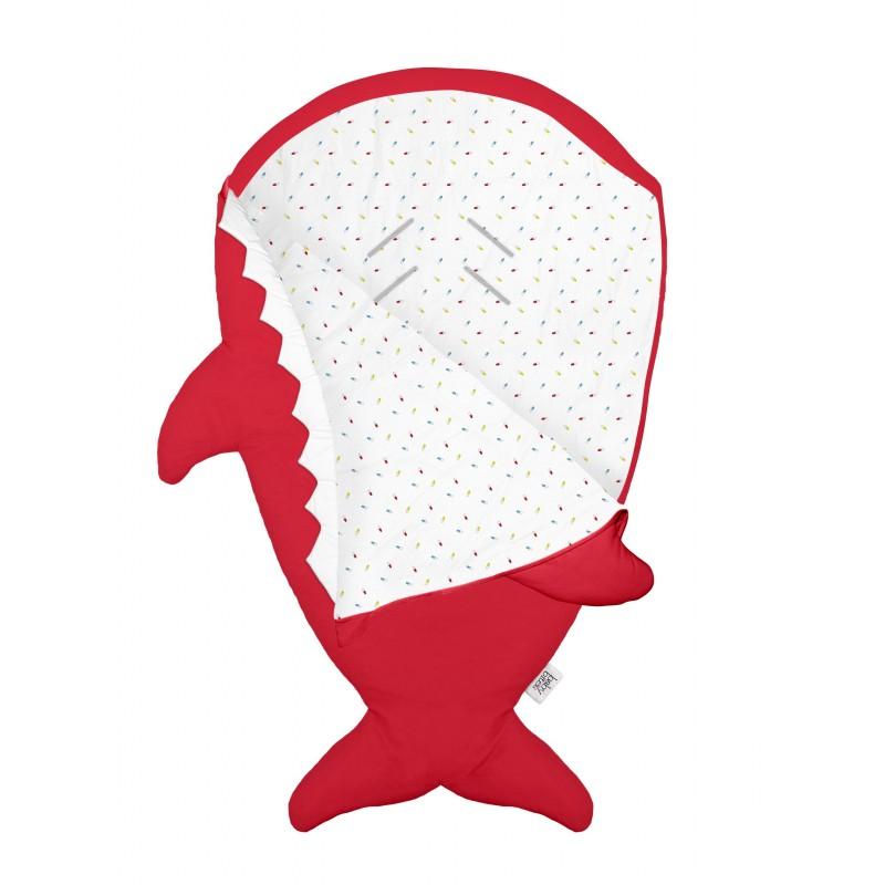 red shark sleeping bag