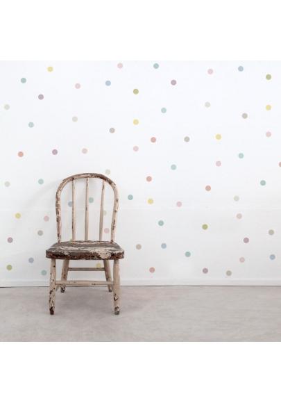 Pastel Dot Wall Stickers