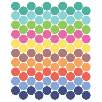 Bright coloured Dot Stickers