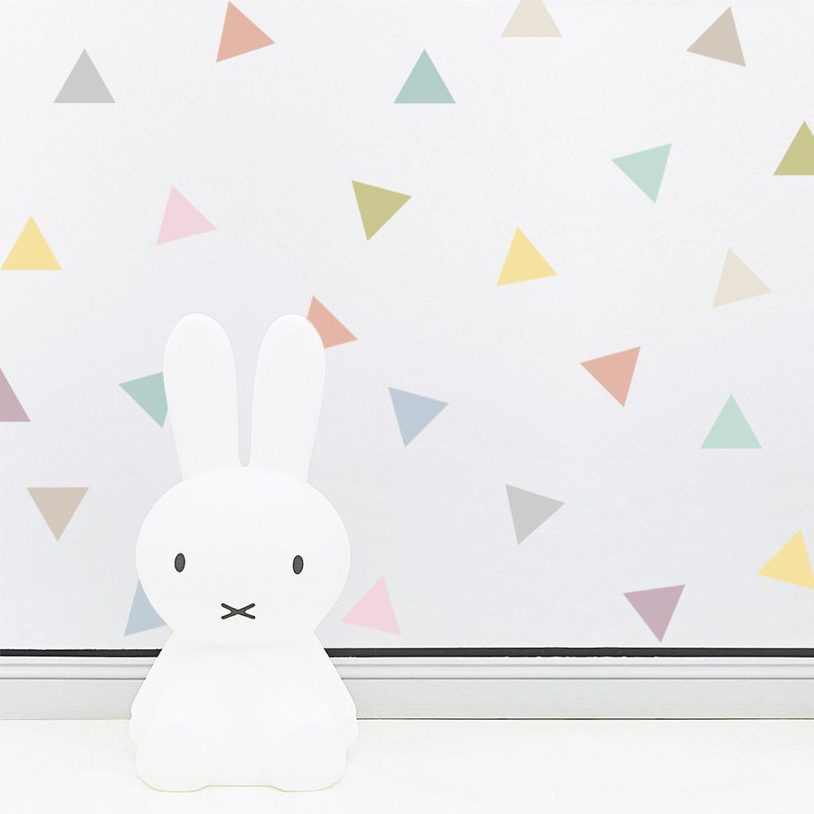 Pastel triangle wall stickers tresxics heylittlebaby amipublicfo Gallery