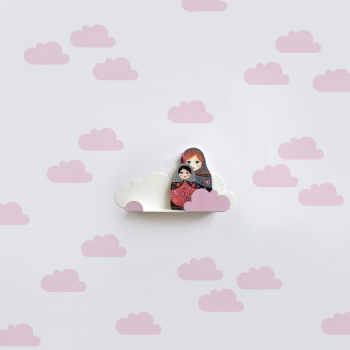 Pink Cloud Stickers