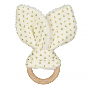 Golden Stars Bunny Teether