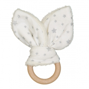 Silver Stars Bunny Teether