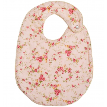 Floral Rose Snap Bib
