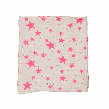 Neon Pink Stars Swaddle Small