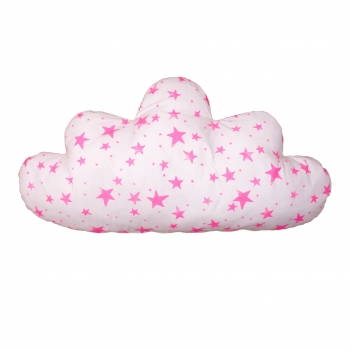 Pink Stars & Stripes Large Cloud Pillow