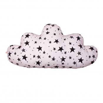 Black Stars & Stripes Large Cloud Pillow