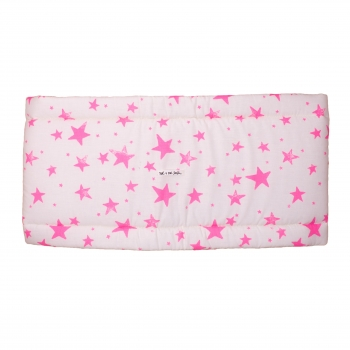 Neon Pink Stars & Stripes Cot Bumper