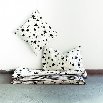 Black Stars & Stripes Kids Bedding