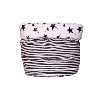Black Stars & Stripes Medium Storage Basket