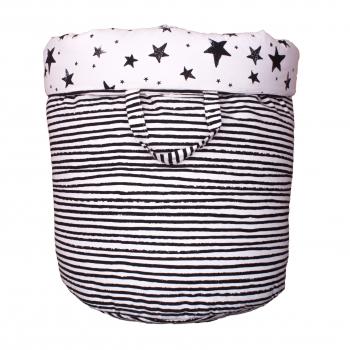 Black Stars & Stripes Large Storage Basket