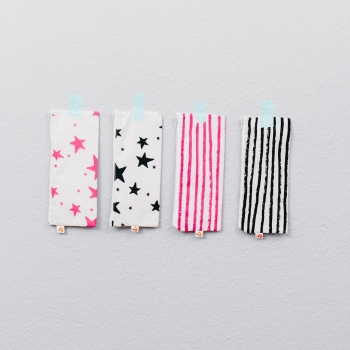 Neon Pink Stripes Small Pencil Case