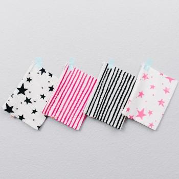 Neon Pink Stripes Medium Pencil Case