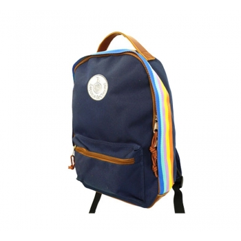 Dark Blue Retro Backpack