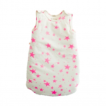 Neon Pink Stars Sleeping Bag