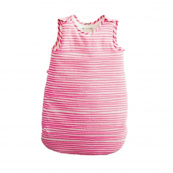 Neon Pink Stripes Sleeping Bag