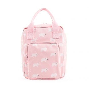 Pink Polar Bear Backpack