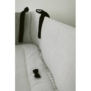 Stone Grey & Black Bedbumper