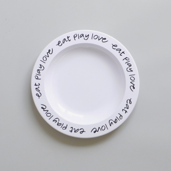 Eat Play Love Plate