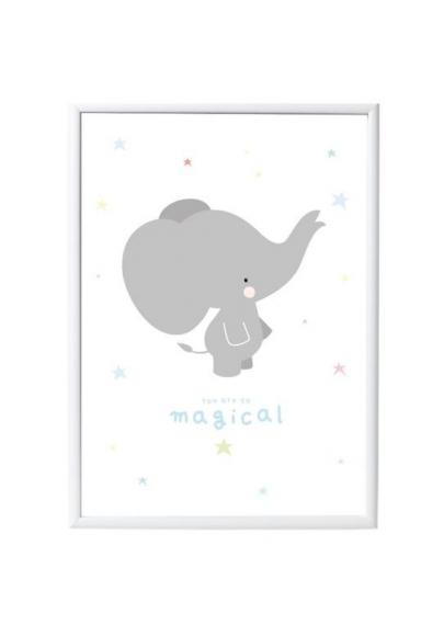 Grey Elephant Poster