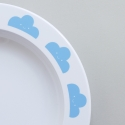 Blue Happy Clouds Plate