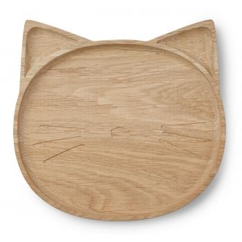 Wooden Plate Conrad - Cat
