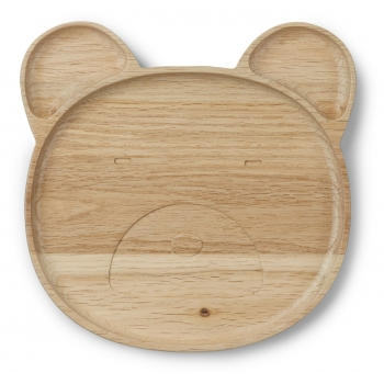 Wooden Plate Conrad - Mr Bear