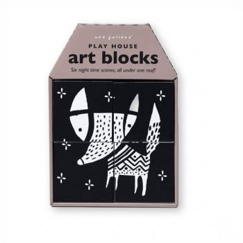 Night Scenes Play House Art Blocks