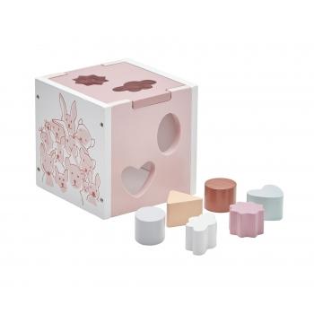 Shape Sorter Edvin - White & Pink