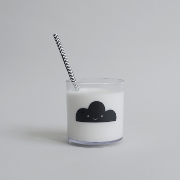Black Happy Clouds Tumbler