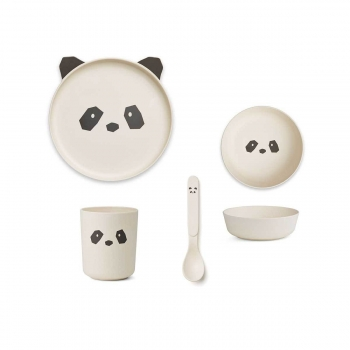 Panda Bamboo Table Set