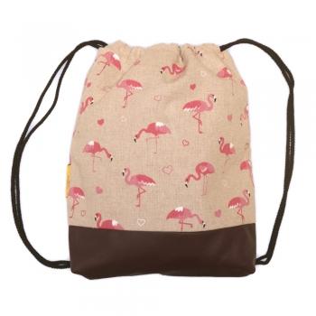 Flamingo String Backpack