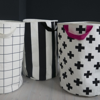 Stripe & Yellow Storage Bag