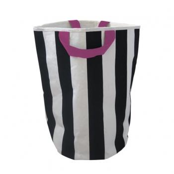 Stripe & Pink Storage Bag