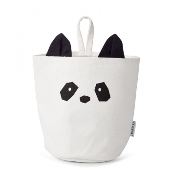 Ib Fabric Basket Panda Creme