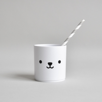 Bear Tumbler Black - White Edition