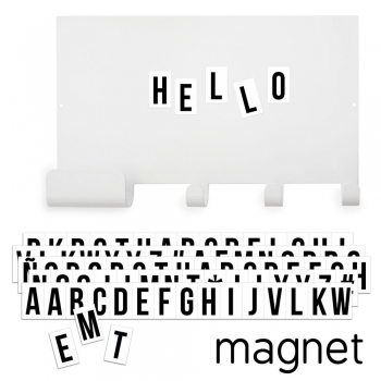 Magnet Board Hooks with Black Letters