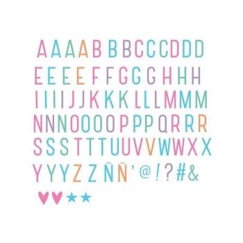 Lightbox letter set - Pastel