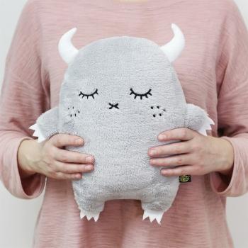 Grey Plush Monster Cushion Ricepuffy