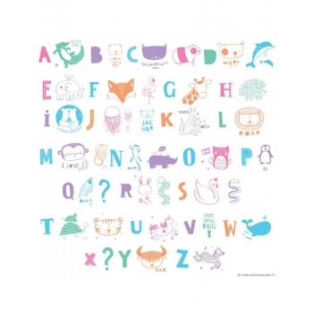 Lightbox letter set - ABC pastel