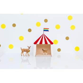 Mini Circus Shadow Box 'Big Top' Red & White