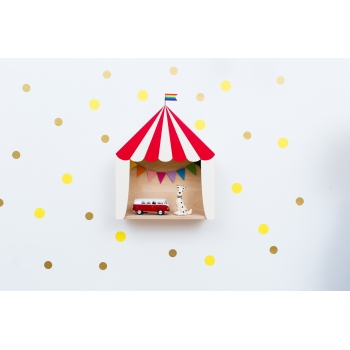 Circus Shelf 'Big Top' Red & White