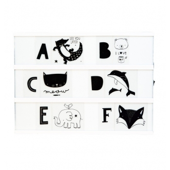 Lightbox letter set - ABC Black