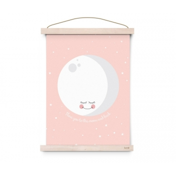 Moon Pink Poster