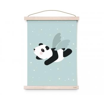 Flying Panda Poster