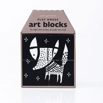 Night Scenes Play House Art Blocks
