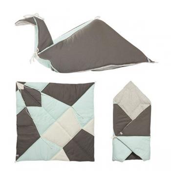 Jade Play-Fold-Bird Blanket