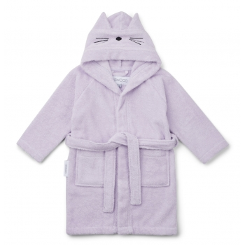 Lily Cat Light Bathrobe in Lavender