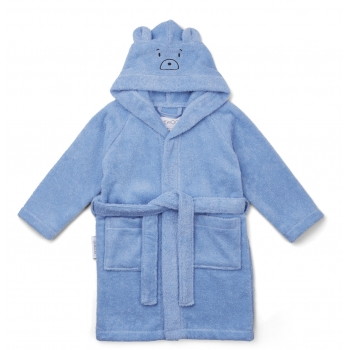 Lily Mr Bear Bathrobe in Sky Blue