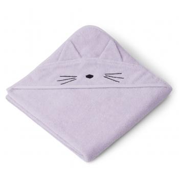 Cat Hooded Towel in Lavender - Augusta